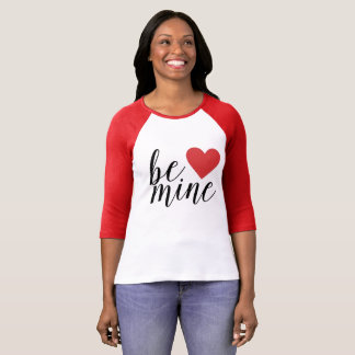 鉱山のハートのバレンタインデーの女性のワイシャツがあって下さい Tシャツ