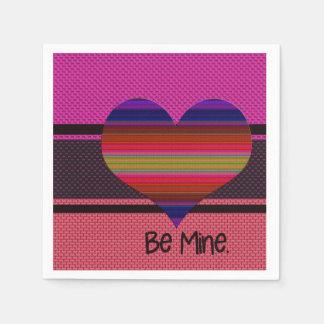 鉱山のバレンタインの虹のハートがあって下さい スタンダードカクテルナプキン