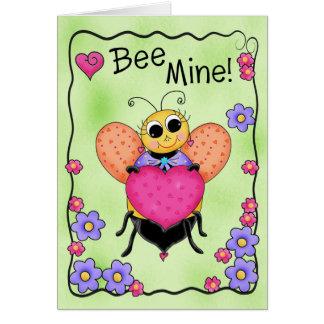 鉱山の蜂蜜の蜂のバレンタインの芸術があって下さい カード