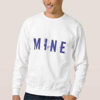 鉱山のlongsleeve白か海軍 スウェットシャツ