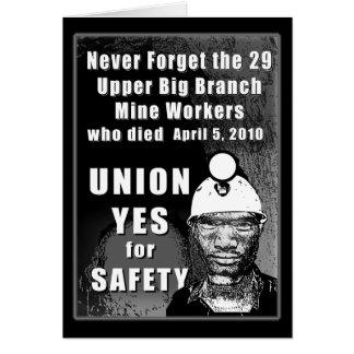 鉱山労働者の挨拶状 カード