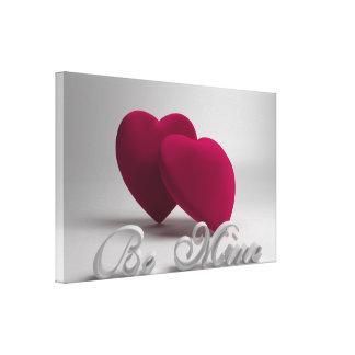 鉱山3Dのハートのバレンタインのキャンバスプリントのプリントがあって下さい キャンバスプリント