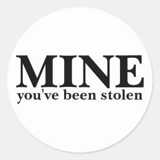 鉱山-盗まれました 丸型シール