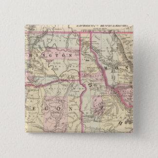 鉱石、洗浄、Ida、Mont 5.1cm 正方形バッジ