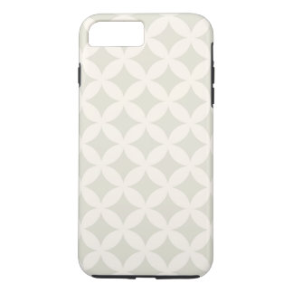 銀およびタンGeocircleのデザイン iPhone 8 Plus/7 Plusケース