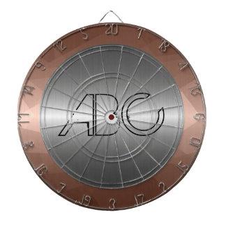 銀およびモザイク青銅色のステンレス鋼の金属 ダーツボード
