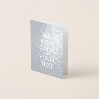 銀および白は平静およびあなたの文字を保ちます 箔カード