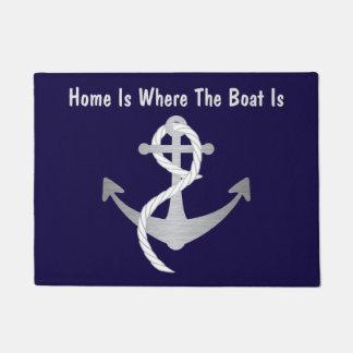 銀および青く航海のなドア・マット ドアマット