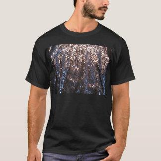 銀および青の輝き Tシャツ