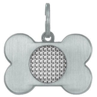 銀によって鎖でつながれるタイル ペットネームタグ