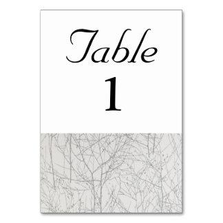 銀の「木」のテーブル数 カード