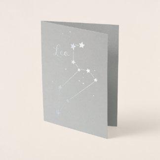銀ぱくのレオの(占星術の)十二宮図の星座 箔カード
