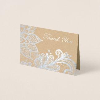 銀ぱくのヴィンテージのレース|クラフトのサンキューカード 箔カード