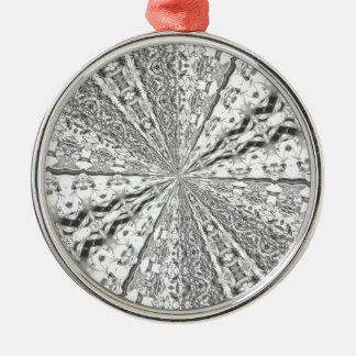 銀ぱくの渦巻 メタルオーナメント