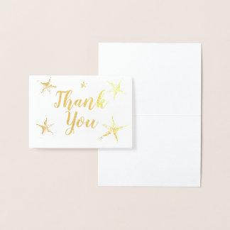 銀ぱくStafishは感謝していしています 箔カード
