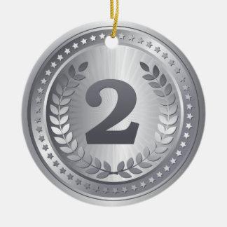 銀メダルの第2場所の勝者 セラミックオーナメント