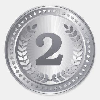 銀メダルの第2場所の勝者 ラウンドシール