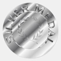 銀メダル シール