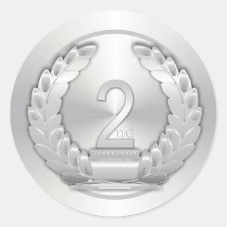 銀メダル ラウンドシール