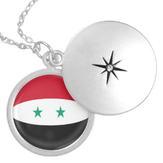 """銀メッキのロケット +18""""シリアのチェーン旗 ロケットネックレス"""