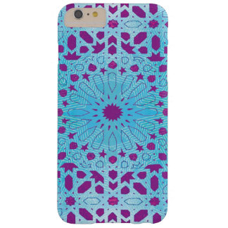 銀及び紫色のモロッコのモザイクiPhoneの箱 Barely There iPhone 6 Plus ケース