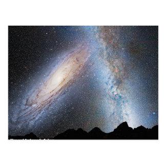 銀河およびアンドロメダの衝突 ポストカード
