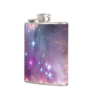 銀河の宇宙の紫色の星雲 フラスク