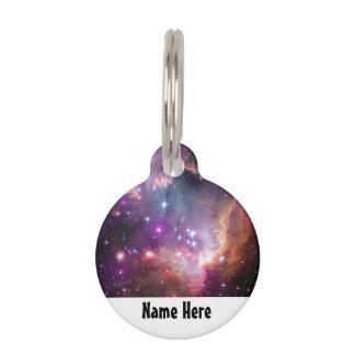銀河の宇宙の紫色の星雲 ペット ネームタグ