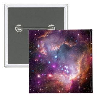 銀河の宇宙の紫色 5.1CM 正方形バッジ