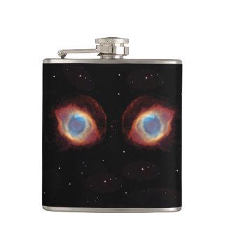 銀河の星雲はビニールの包まれたなフラスコを注目します フラスク