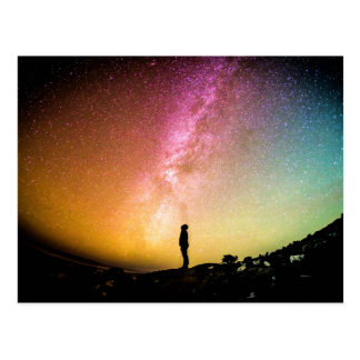 銀河の美しくカラフルな自然の景色 ポストカード