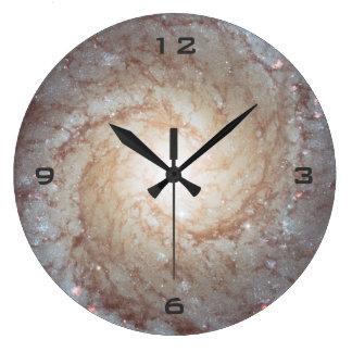 銀河の軽い渦の柱時計 ラージ壁時計