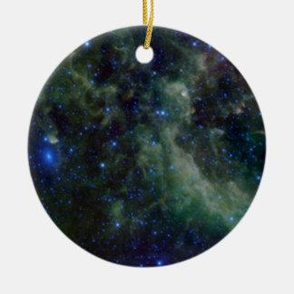 銀河の銀河系内のカシオペア座の星雲 セラミックオーナメント