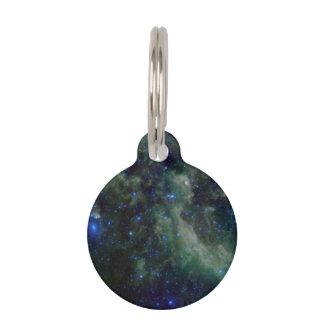 銀河の銀河系内のカシオペア座の星雲 ペット ネームタグ