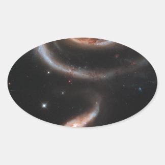 銀河系のバラ 楕円形シール