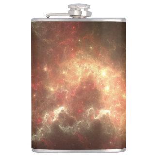 銀河系のビニールの包まれたなフラスコ フラスク