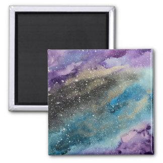 銀河系のプリントの宇宙の水彩画の磁石 マグネット