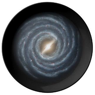 銀河系のプレート 磁器プレート