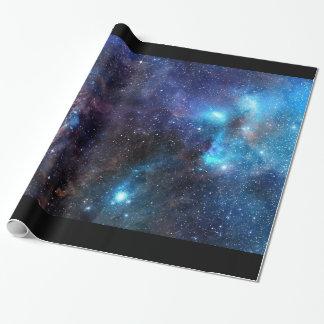 銀河系の包装紙2 -黒いボーダーが付いている… ラッピングペーパー