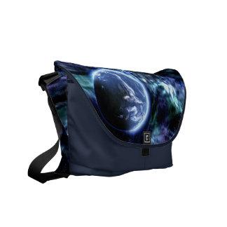 銀河系の地球の外宇宙のメッセンジャーバッグ メッセンジャーバッグ