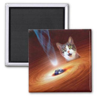 銀河系の宇宙猫LOL 2インチの正方形の磁石 マグネット