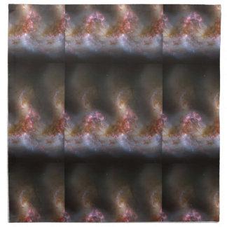 銀河系の星雲のプリント ナプキンクロス