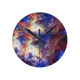 銀河系の星雲の名前入りな天文学の宇宙 ラウンド壁時計