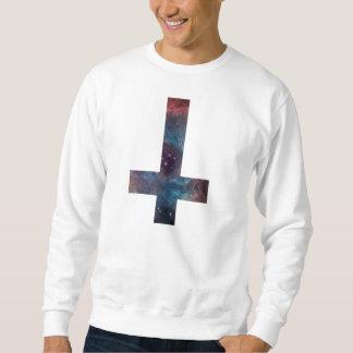 銀河系の星雲の逆さまの十字 スウェットシャツ