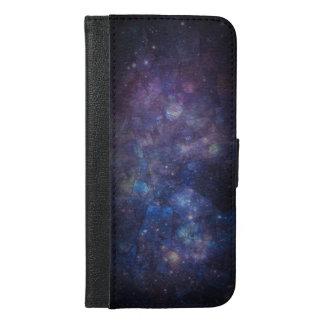 銀河系の曹灰長石の宇宙の財布のSmartphoneの場合 iPhone 6/6s Plus ウォレットケース