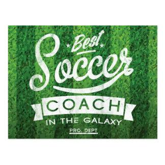 銀河系の最も最高のなサッカーのコーチ 葉書き