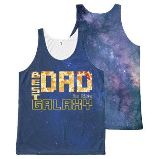 銀河系の最も最高のなパパ オールオーバープリントタンクトップ