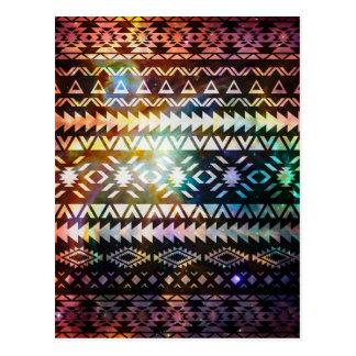 銀河系の種族のパターン空間アステカな民族のアンデス ポストカード