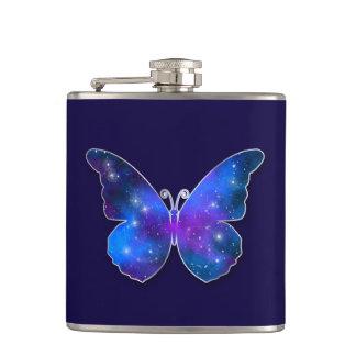 銀河系の蝶カッコいいの濃紺のイラストレーション フラスク