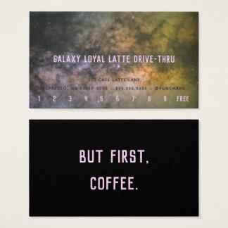 銀河系の銀河の写真ドライブによるロイヤリティのラテ 名刺
